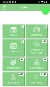 Mobile app sales dashboard