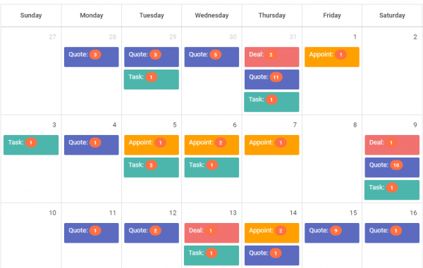 calendar scheduling sales follow-up
