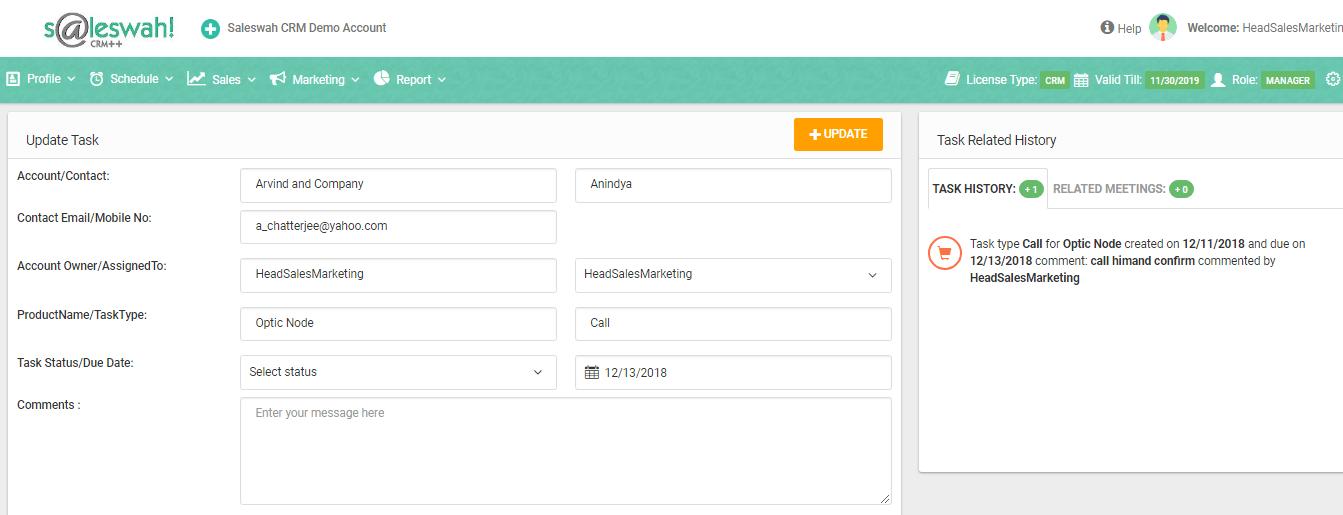crm task update